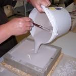 Herstellen von Reliefs Ausgießen