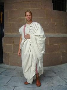 roemischer senator mit toga