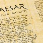 römische Schriftrolle in Latein