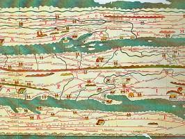 Peutingische Tafel mit römische Provinzen