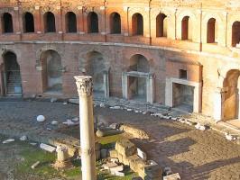 Einkaufsbummel Trajans Forum