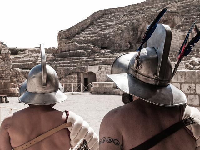 Gladiatoren Verus und Priscus