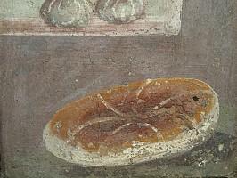 Römisches Essen - Fresko mit Brotleib