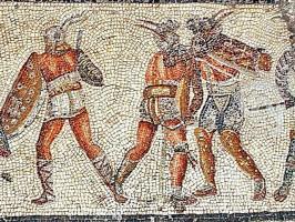 Gladiators-Zliten-mosaic-Kampf-rechts