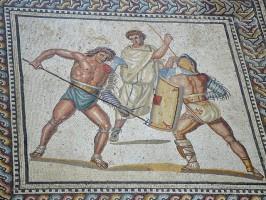 Nennig-Mosaik-Gladiatoren