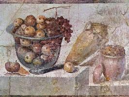 Obst-Fresko.Pompeii