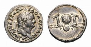 Vespasian Denar Römische Steuer | Pecunia