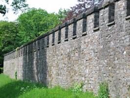 Saalburg-Mauer