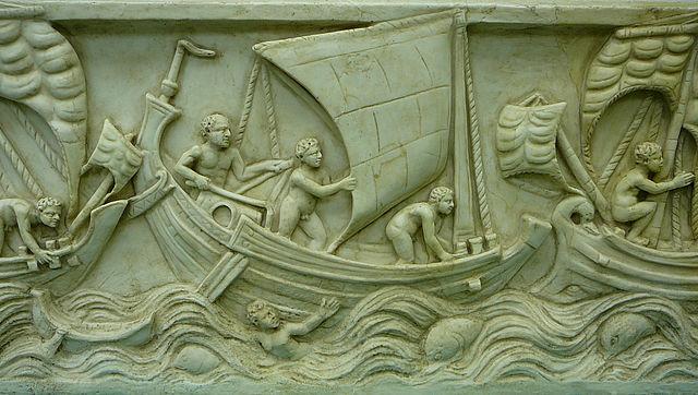 Römisches Schiff_Schifffahrtmuseum_Mainz_02._Spritsail