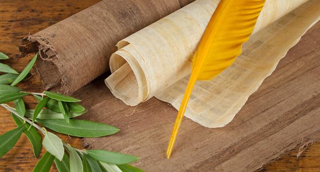 Papyrus-Schreibfeder