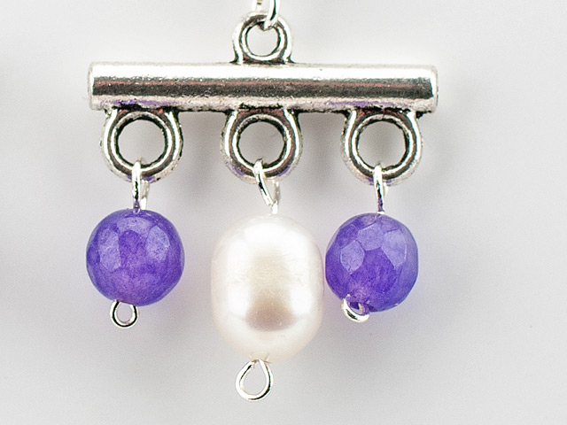 römische Perlen Ohrringe