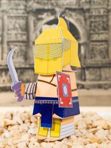 Basteln mit Papier der Gladiator