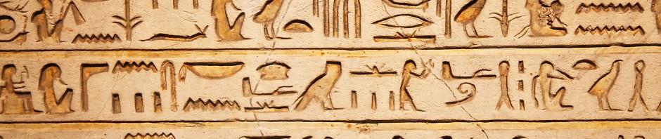 Ägypten Hyroglyphen