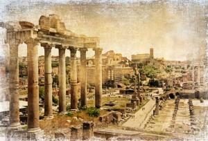 Im römischen Reich in Rom