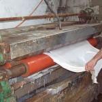 Pergament Herstellung Haut walzen