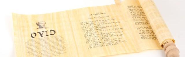 Ovid Zitate römische schriftrolle